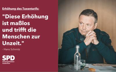 Taxentarif: Eine Erhöhung die zur Unzeit kommt